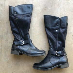 BareTraps Black Long Boots